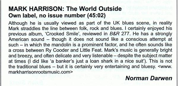 The World Outside Review Blues and Rhythm